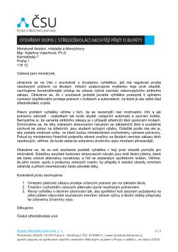 Stáhnout otevřený dopis - Česká středoškolská unie