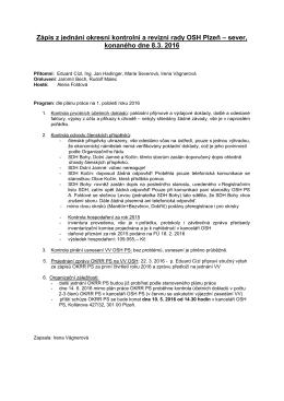 Zápis z jednání OKRR ze dne 12