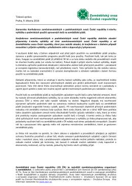 Tisková zpráva Praha, 9. března 2016