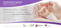 Následná péče o rizikové novorozence a jejich rodiče,