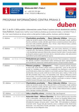 Program IC duben