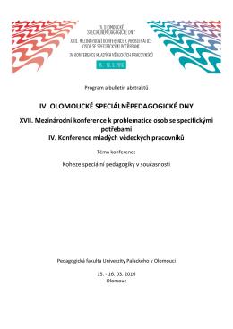 Program-konference - Ústav speciálněpedagogických studií