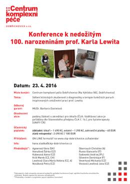 POZVÁNKA – česky - Centrum komplexní péče Dobřichovice, sro