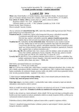 propozice  - Lukostřelec.cz