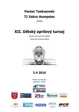 XII. Dětský aprílový turnaj
