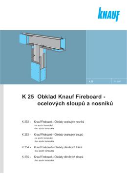 K 25 Obklad Knauf Fireboard - ocelových sloupů a nosníků