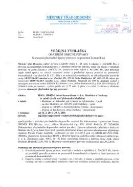 Městský úřad Hodonín, odbor investic a údržby