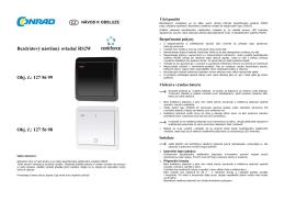 bezdrátový nástěnný ovladač Renkforce RS2W
