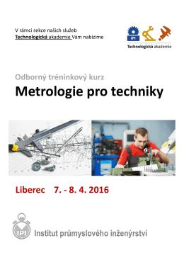 Metrologie pro techniky