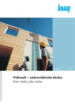 Vidiwall – sádrovláknitá deska Není sádra jako sádra