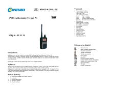 Překlad 933131 - radiostanice TeCom