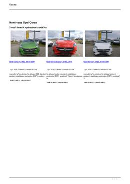 Nové vozy Opel Corsa