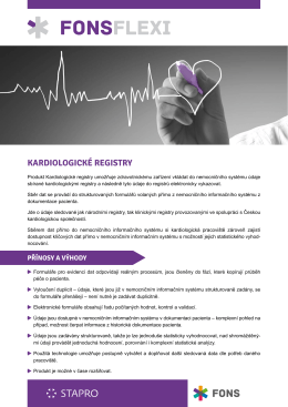 Kardioregistry - STAPRO s. r. o.
