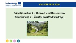 Prezentace Životní prostředí a zdroje - AT-CZ