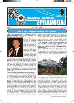 Město - Oficiální stránky města Jaroměř