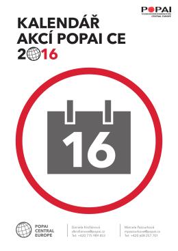Kalendář akcí 2016 - popai central europe