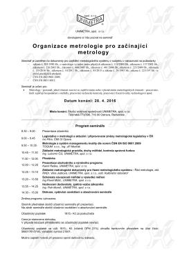 Organizace metrologie pro začínající metrology