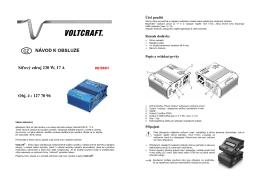 překlad- 1277096 - síťový zdroj Voltcraft