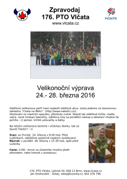 Zpravodaj 176. PTO Vlčata Velikonoční výprava 24.
