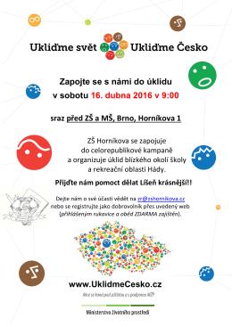Pozvánka ve formátu PDF - ZŠ a MŠ, Brno, Horníkova 1