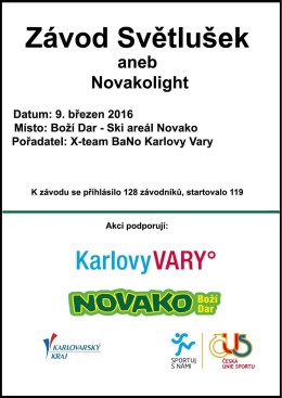 Světlušky výsledky 2016 - ACES Team Karlovy Vary