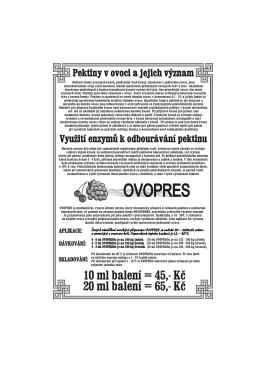 Leták 8. A5 - Pektiny v ovoci + Ovopres