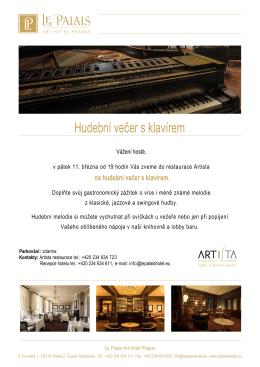 Hudební večer s klavírem