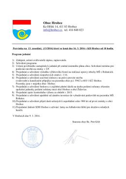 Č. 9 Pozvánka na 13 zasedání ZO