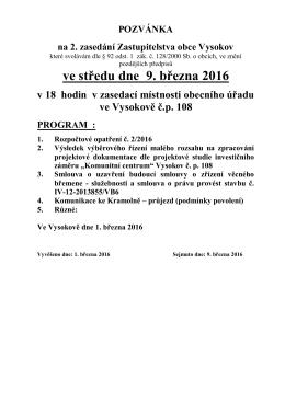 132016 Pozvánka na jednání ZO 09032016