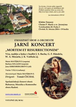 jarní koncert - Emauzský sbor a orchestr (ESO)