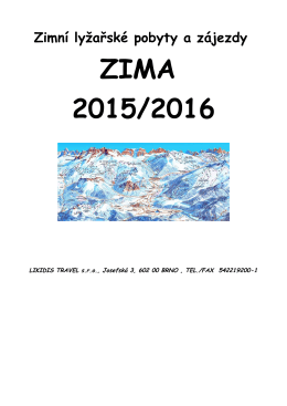 lyžařské zájezdy - Likidis Travel