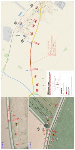 Situace přechodného dopravního značení II. etapa, fáze 2, úsek II