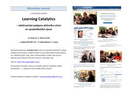 Learning Catalytics – elektronické podpory aktivního učení ve