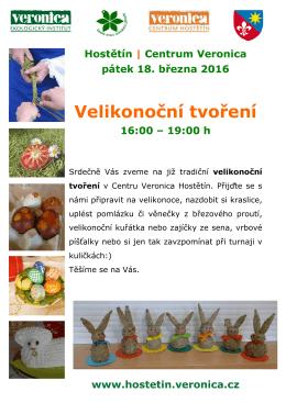 Velikonoční tvoření - Centrum Veronica Hostětín
