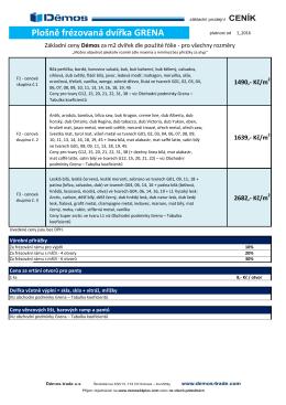 GRENA - základní ceník - platné od 2_2016