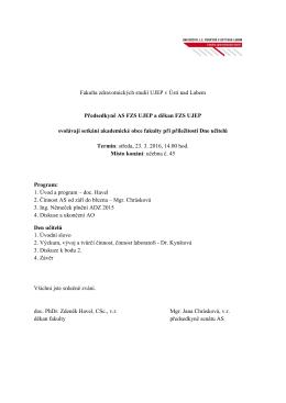 Shromáždění Akademické obce FZS UJEP