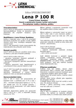 Lena P 100 R - Lena Chemical sro