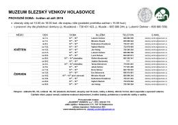 ke stažení - Muzeum Slezský venkov Holasovice