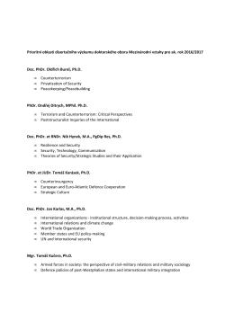 Prioritní oblasti disertačního výzkumu doktorského oboru