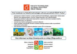 Informační leták česky - Fakulta technologie ochrany prostředí