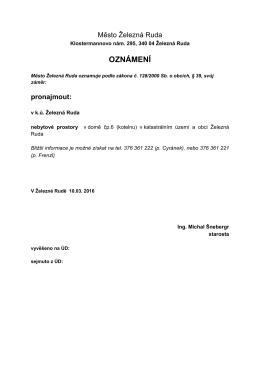 úřední deska pronájem kotelny čp 6 2016
