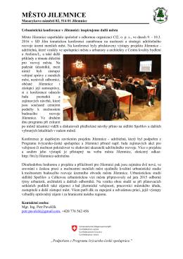 Tisková zpráva: Urbanistická konference v Jilemnici