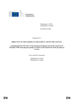 Proposal for a Directive of the European Parliament and of the