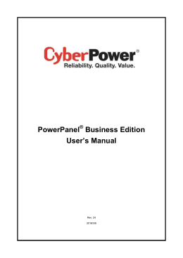 PowerPanel Business Edition User`s Manual