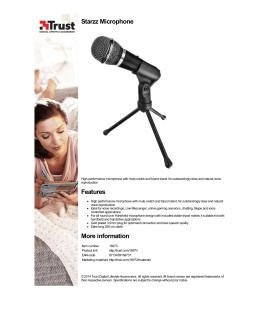Trust.com - Starzz Microphone