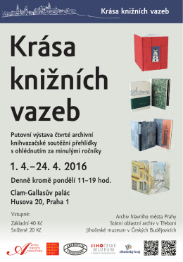 Krása knižních vazeb - Archiv hlavního města Prahy