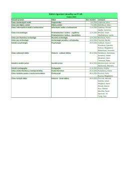 Státní rigorózní zkoušky na FF UK