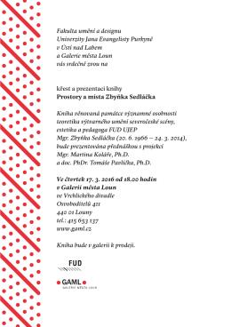 pozvánka - FUD UJEP