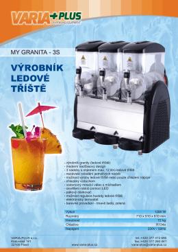 výrobník ledové tříště - VARIA-PLUS