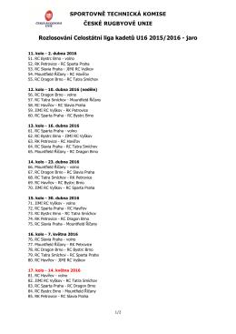 STK Oběžník 2016 4 - příloha cl U16 2015/16